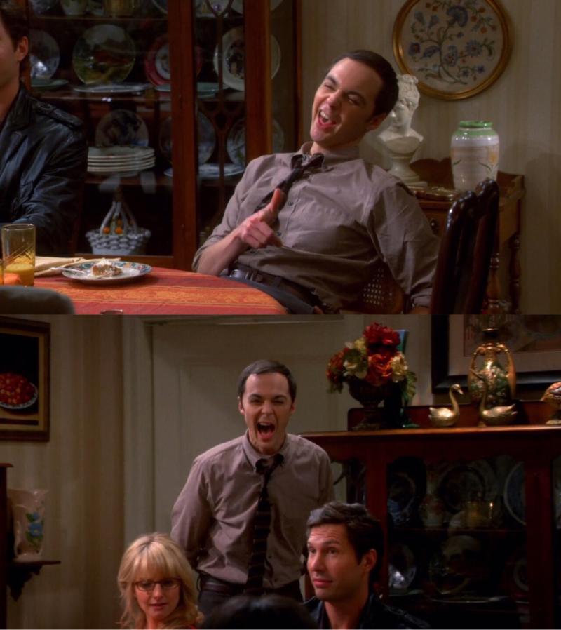 I just LoVe Drunk Sheldon .. He is The BEST 😂😂🌹 !   متعـه متعـه هالوللد والله تحـفه 😂✨🌹 !