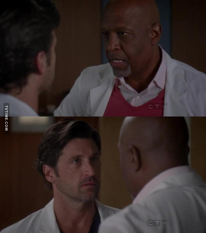 Nunca senti tanto orgulho do Richard. Ele fez o que o Derek não teve coragem de fazer, que foi proteger a sua própria esposa.