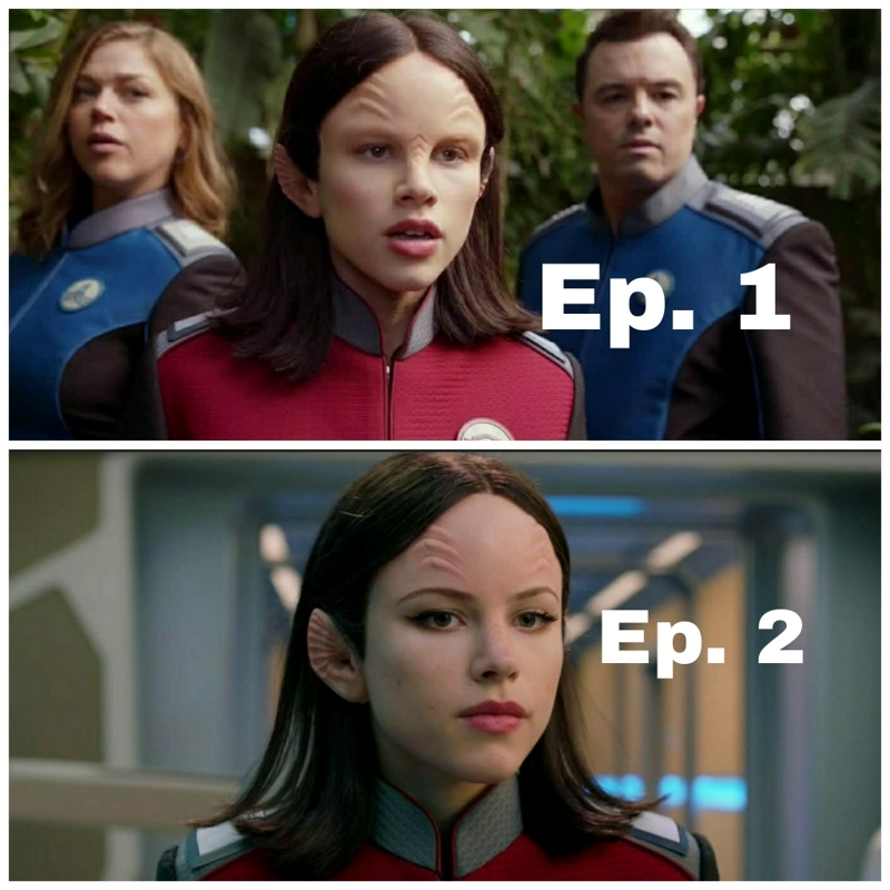 Throughout the whole 2nd episode, I thought they recasted Alara. Turns our they just gave her eyebrows. 🤣🤣🤣