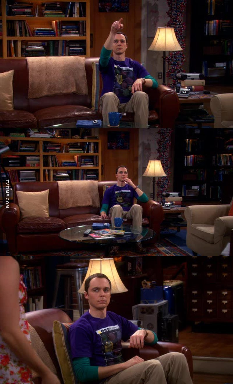 Sheldon is too funny.