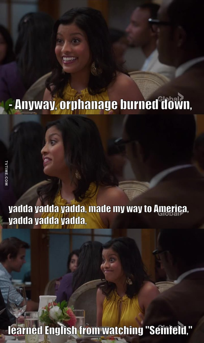 The yada yada 😂😂😂