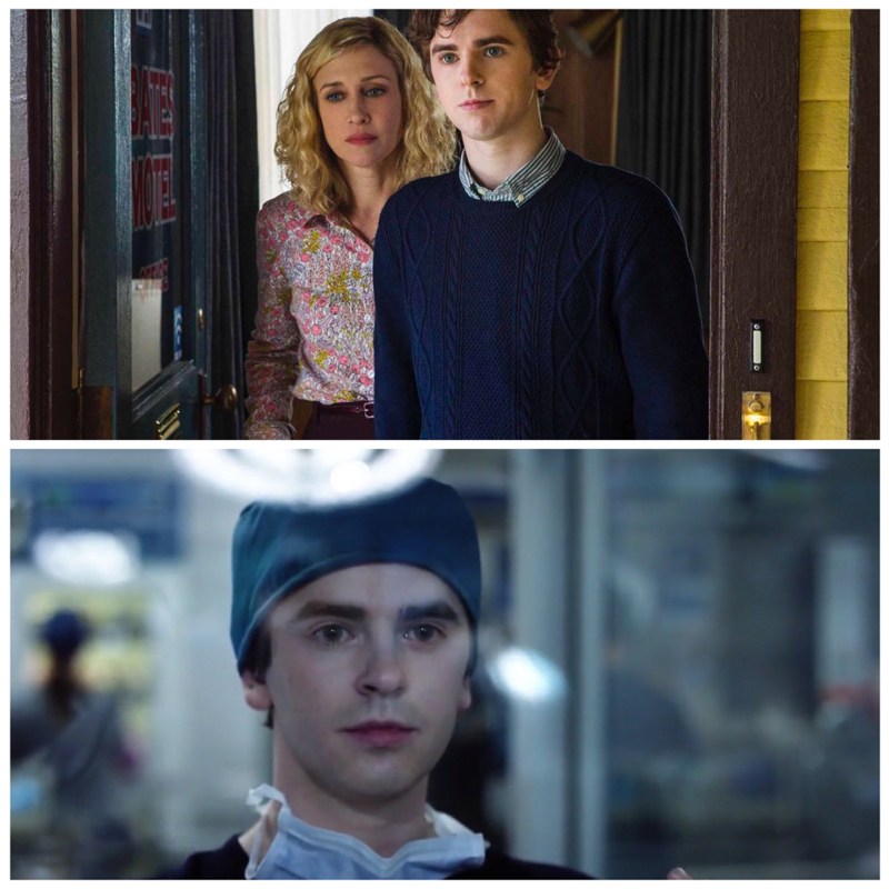 Freddie Highmore spent five seasons murdering people in Bates Motel, but now he saves lives! I just love him.