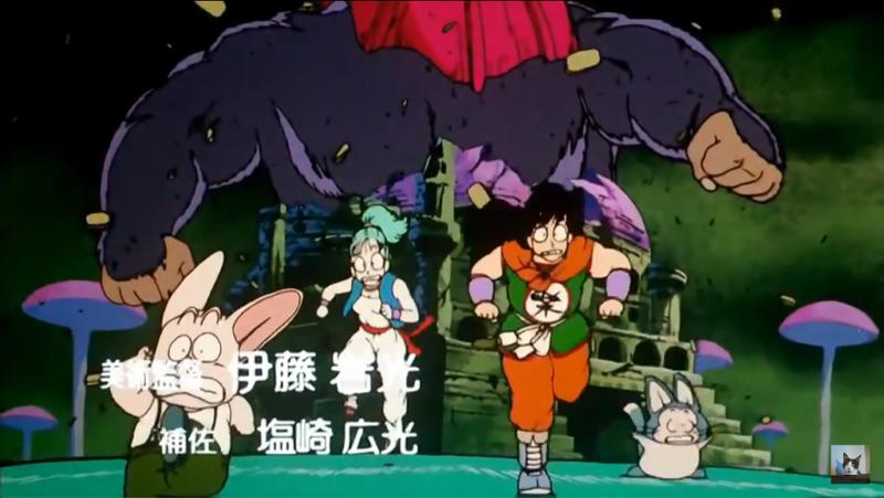 Só agora o Goku se tocou que fez isso no castelo do Pilaf, no torneio na luta contra o Jackie Chun e que matou o avô, Son Gohan.