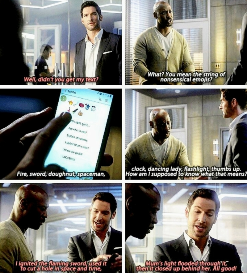 Lucifer always makes me laugh. 😂😂😂