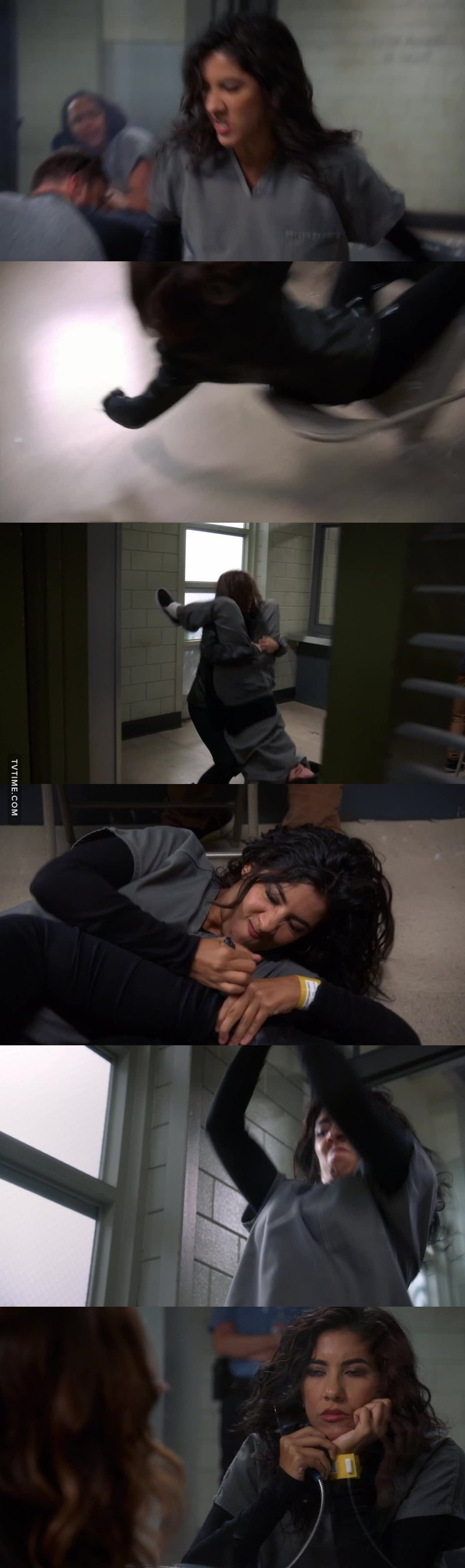 Man I actually thought the scene was for real. I guess Rosa is such a badass that her breaking the glass and kicking ass is more realistic than her dreaming about doing it lool.
