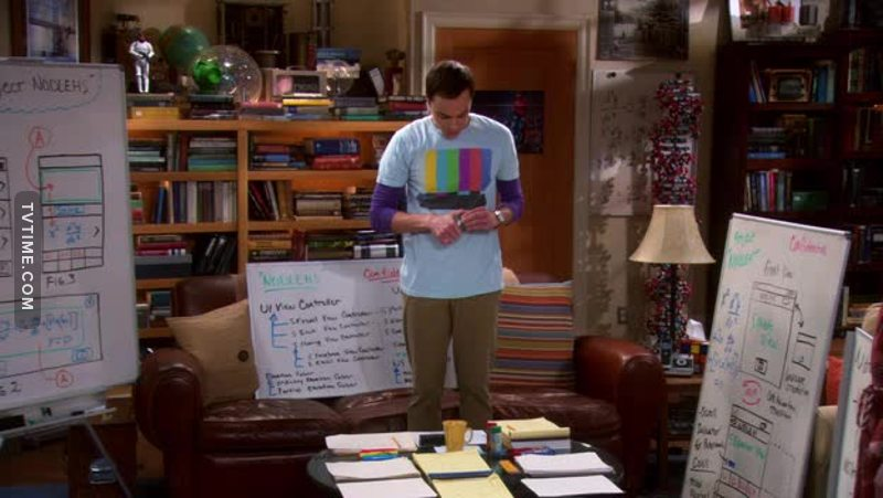 """S: For our app, I would humbly suggest Project Nodlehs. R:  That's just """"Sheldon"""" backwards. S:  Another happy accident.   🤣🤣"""
