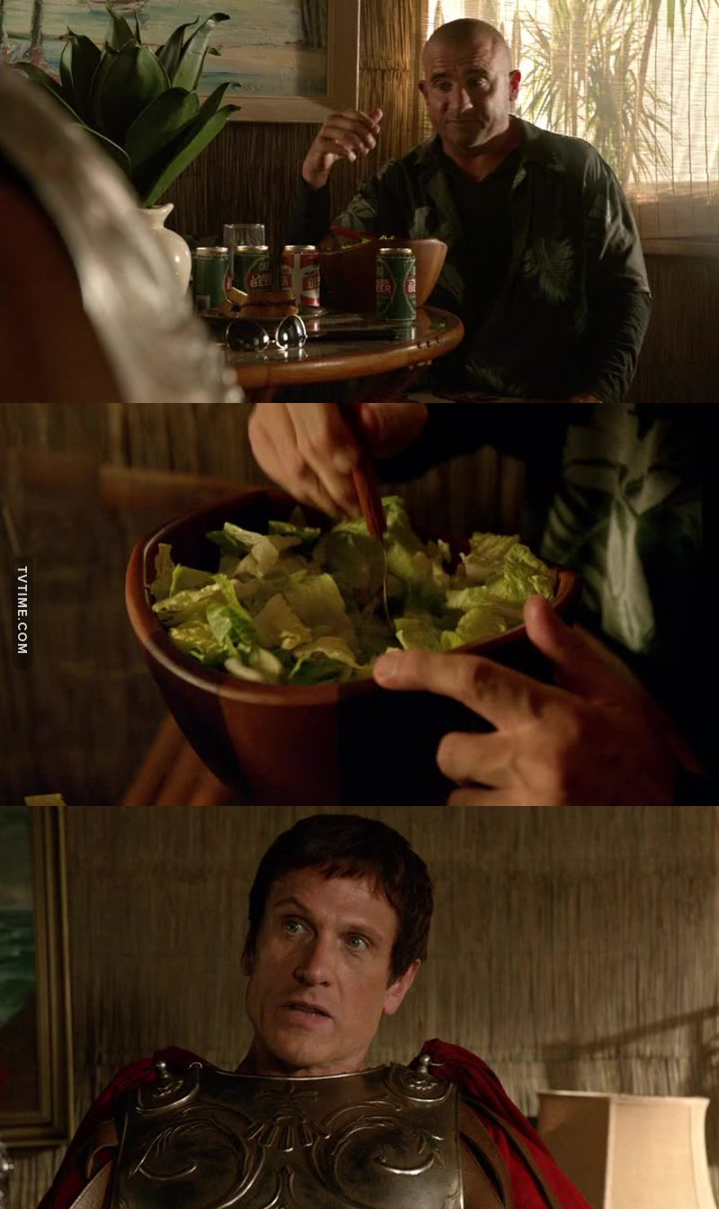 """Your salad sucks!"" -Rory to Caesar"