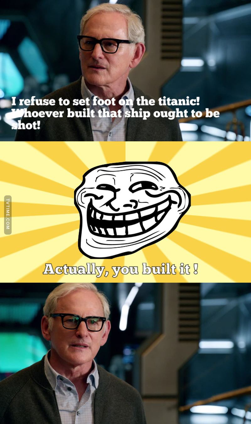 Haha he played the one who designed the titanic in the movie 🤣