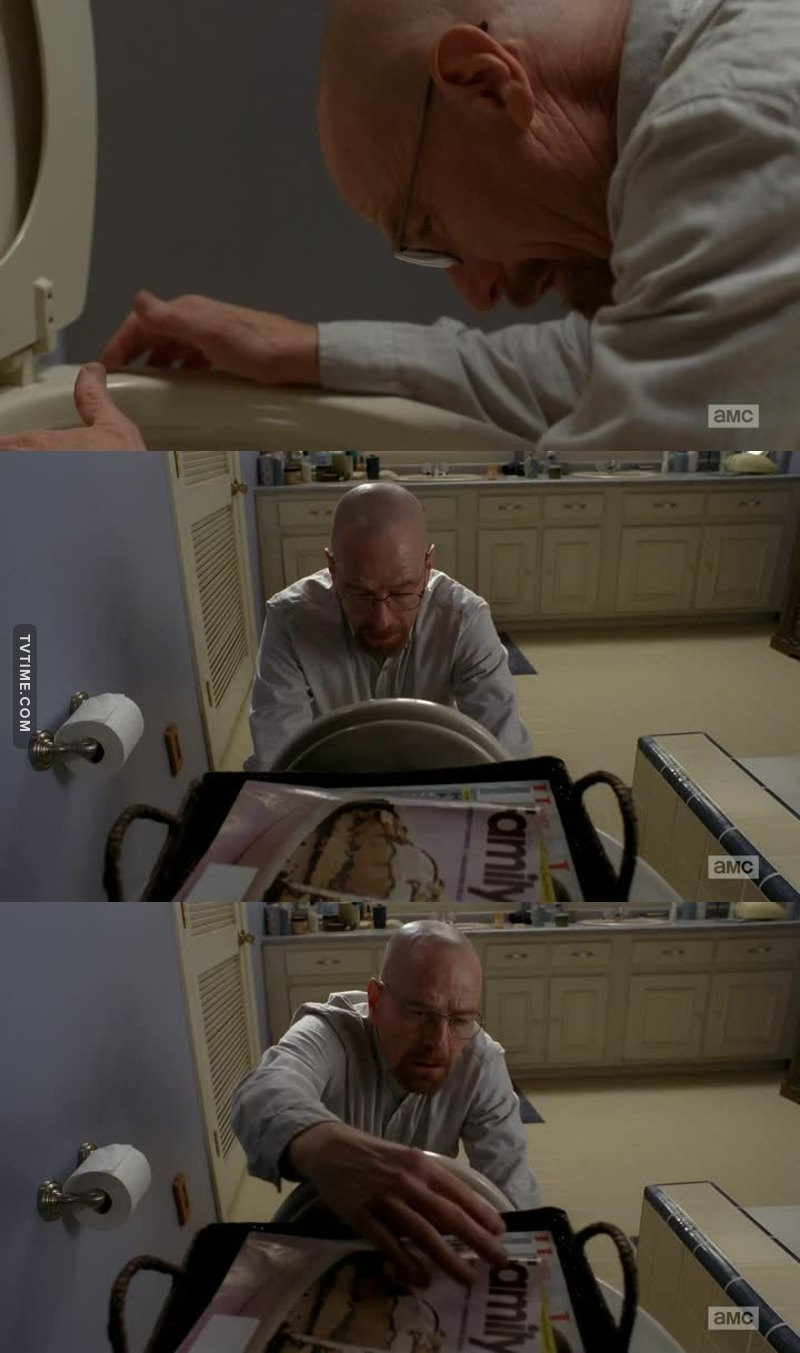 The way Hank finds the book and the way Walt finds it's missing.... so elegant! 😂
