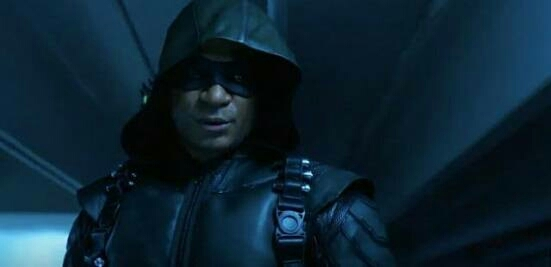"""""""My name is John Diggle after 5 years in a leather jacket I finally get a real costume""""😂😂"""