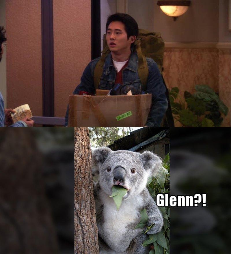 It's Glenn from The Walking Dead 😂😱