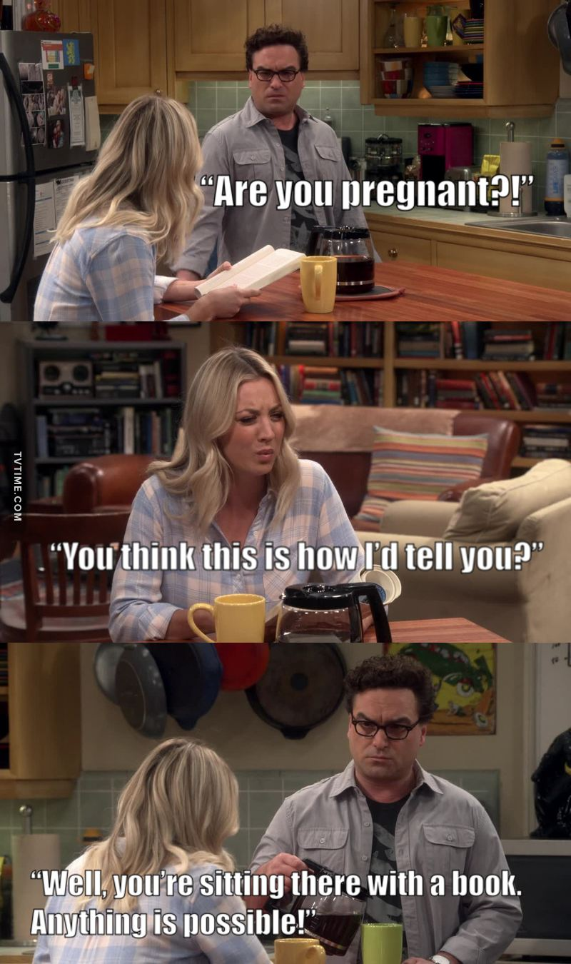 Penny is reading a (parenting) book was so funny! 😂