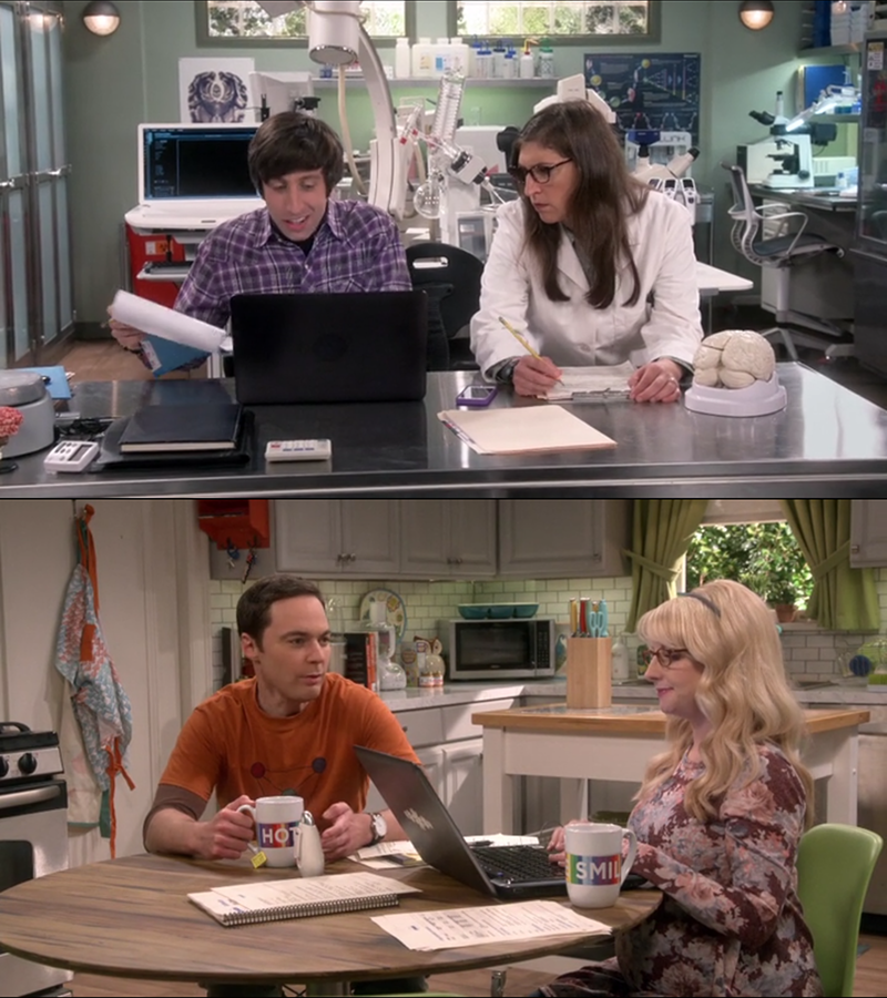 I loved that they finally paired up the characters differently. It's (almost) always Penny-Leonard-Shaldon-Amy and Raj-Howard-Bernadette...