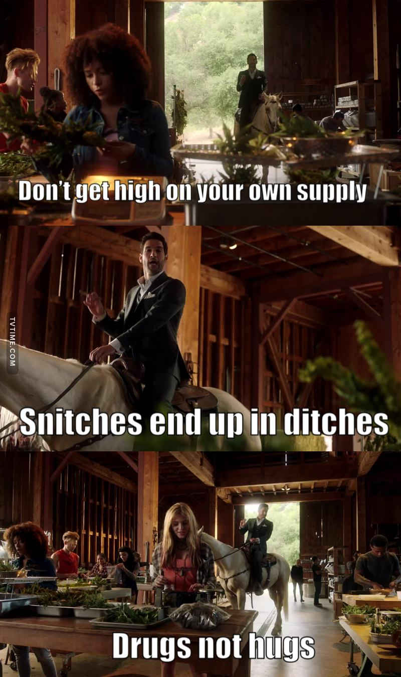 Wise words from Lucifer