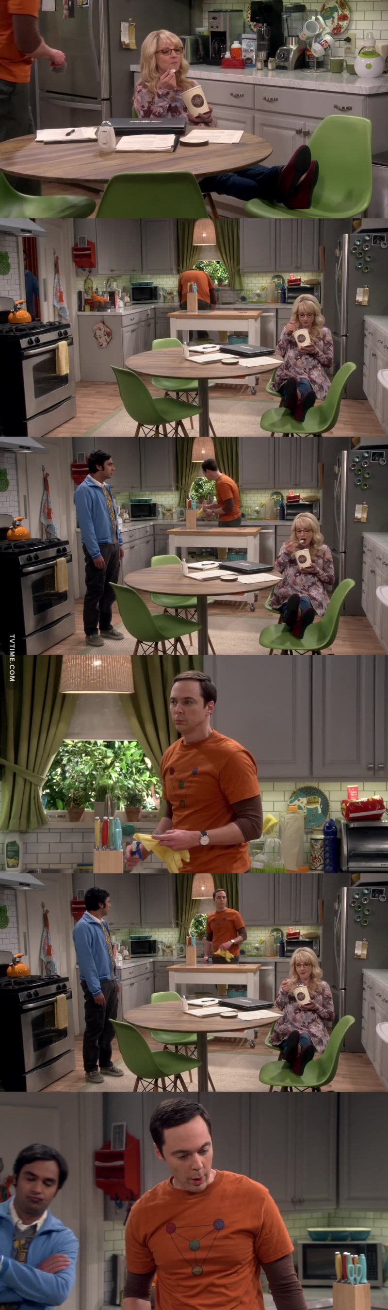 Every time Sheldon realized he has been played, I love it xD