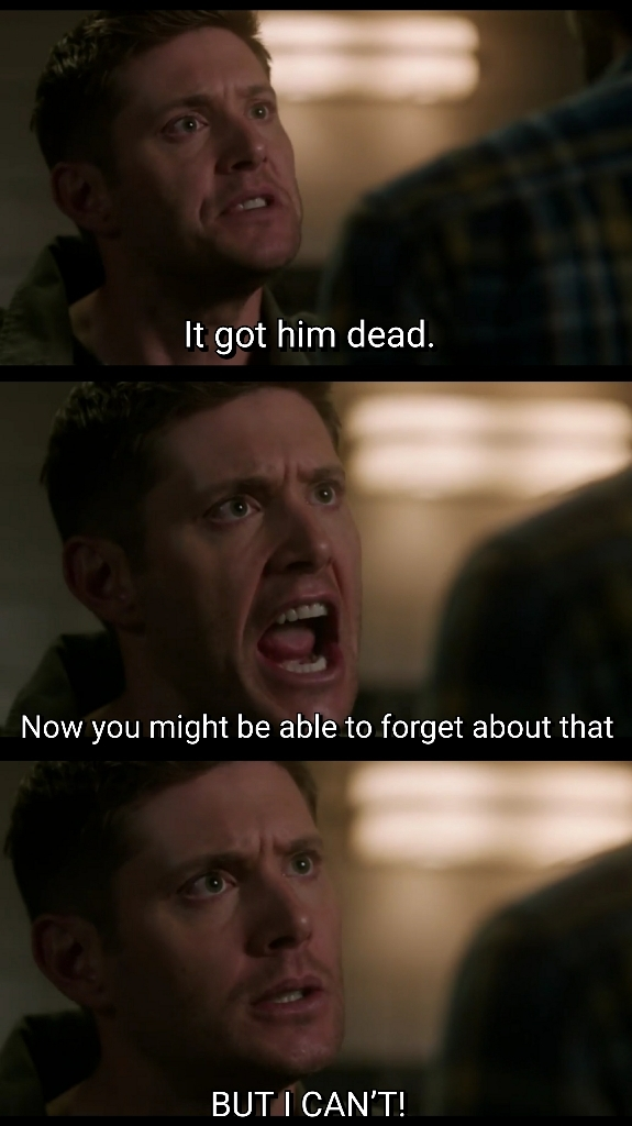 Dean is SO ANGRY for losing Cas.