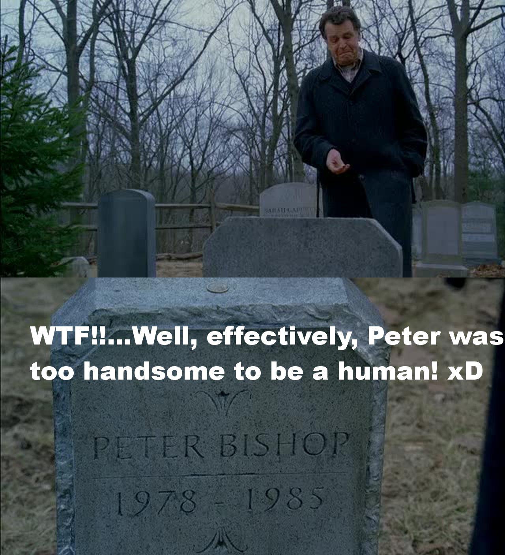 Oh my god!! Effettivamente Peter era troppo bello per essere umano!! XD :P