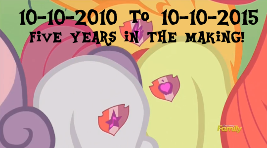 "Because of all of the anticipation towards this very moment it felt a tiny bit disappointing to have them all have basically the same cutie mark for the same thing, but oh well at least no more ""let's do this dumb thing to try and get our cutie marks"" episodes."