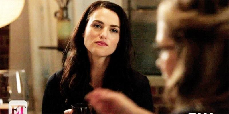 Sam: Are you involved with anyone? Kara: uhmm (looks at Lena) Lena: (looks at Kara)