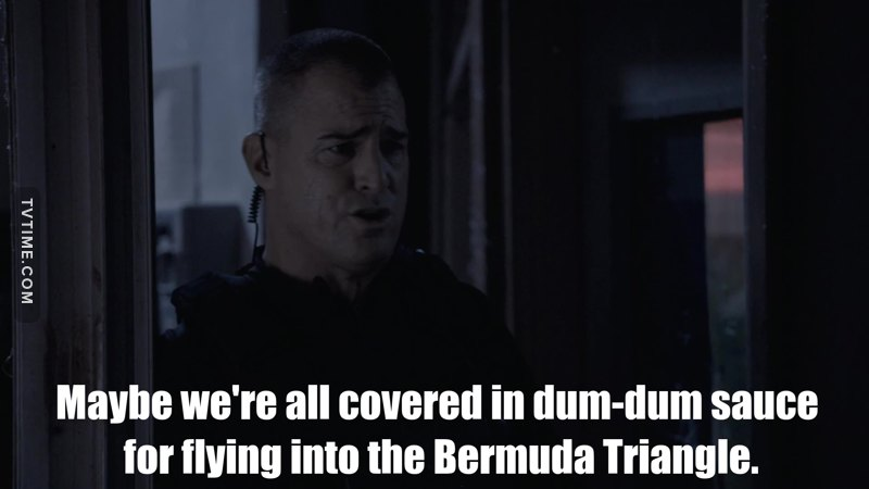 I'm with Jack ... I wouldn't want to be going to the Bermuda Triangle either.