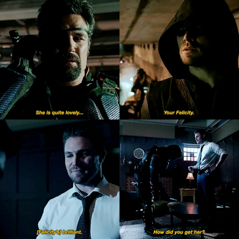 Parallels.. Slade keeps approving and liking Felicity