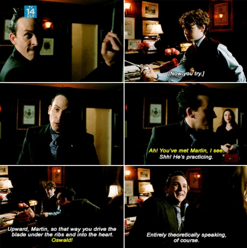 Oswald teaching a small human how to kill someone 😁😄
