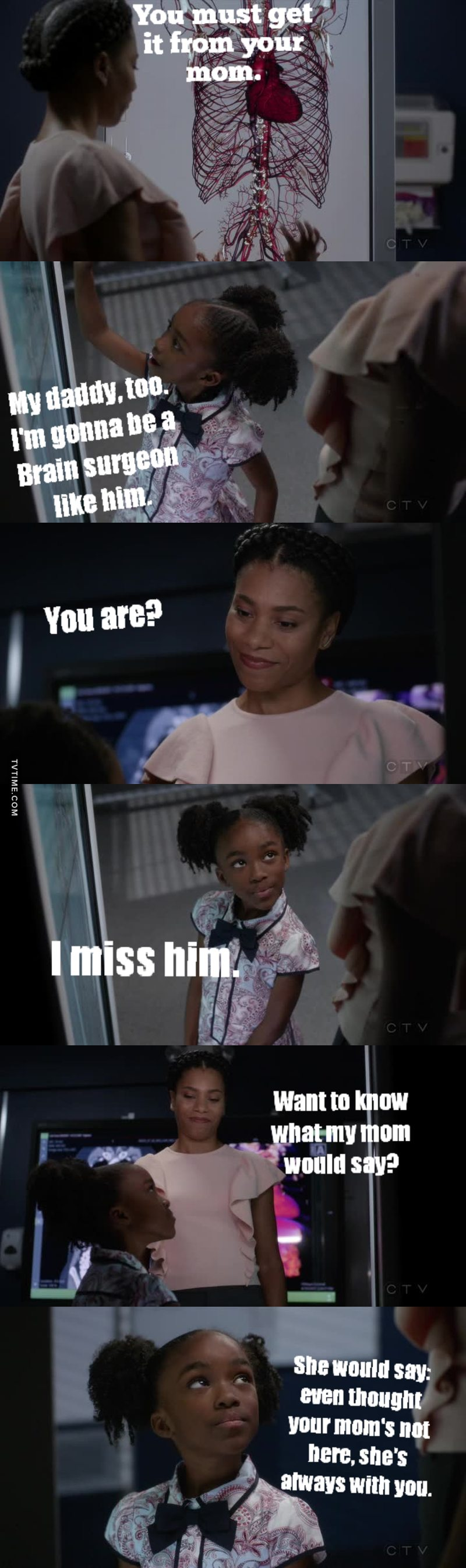 Derek 😭😭 this kid though.. she's the best! #Greys300 🎢
