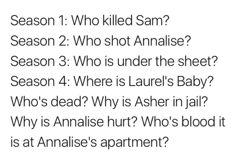 A lot of questions this season.