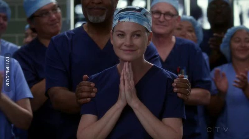 -The old opening credits. I cried. -Lexie. I cried. -Mark. I cried. -O'Malley. I cried. -Zola talking about Derek. I cried. -Alex talking about Izzie. I cried. -Meredith winning the award. I cried. -Jackson's speech. I cried.  -Meredith, Cristina and Alex celebrating in their old spot. I cried. -I even cried for Ellis. There is literally no more water in my body.  I feel empty, in a good way.  Happy 300 episodes!