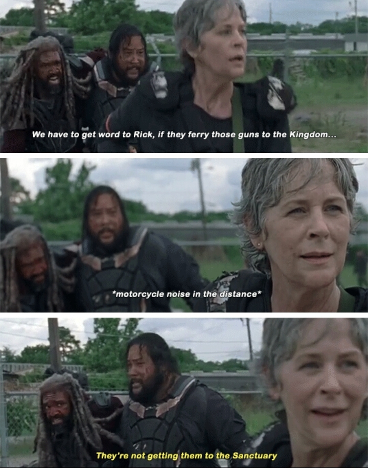 Carol hears her Pookie in the distance