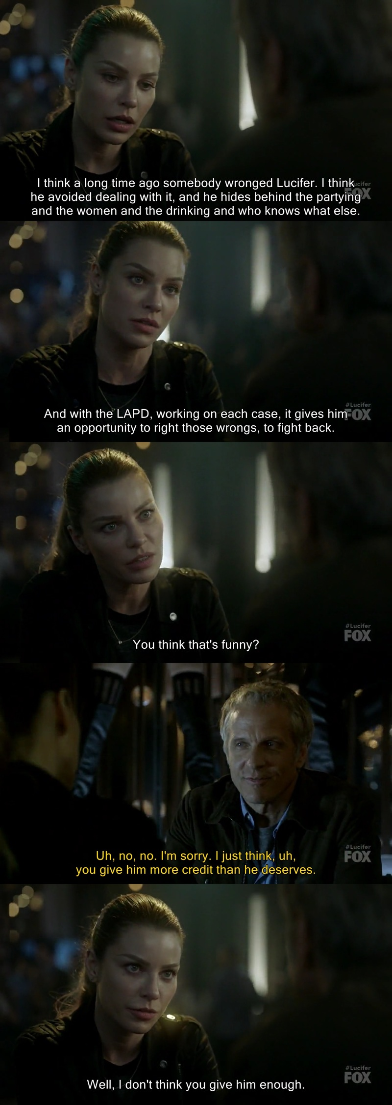 Chloe defending Lucifer ❤️💕 Yeah, you tell him sweetie 👏👏