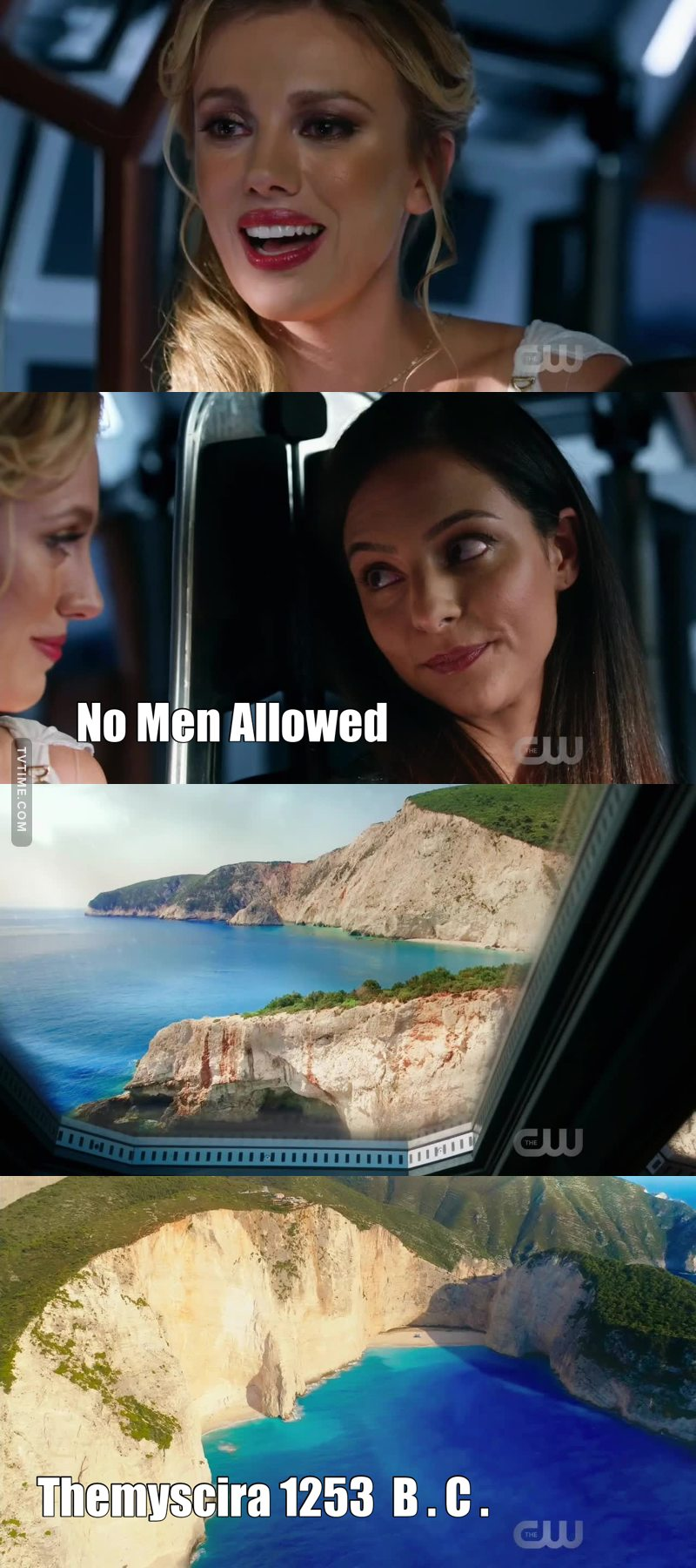 """Aphrodite's Law:  """"Under penalty of death, no Man may set foot on Themyscira."""""""