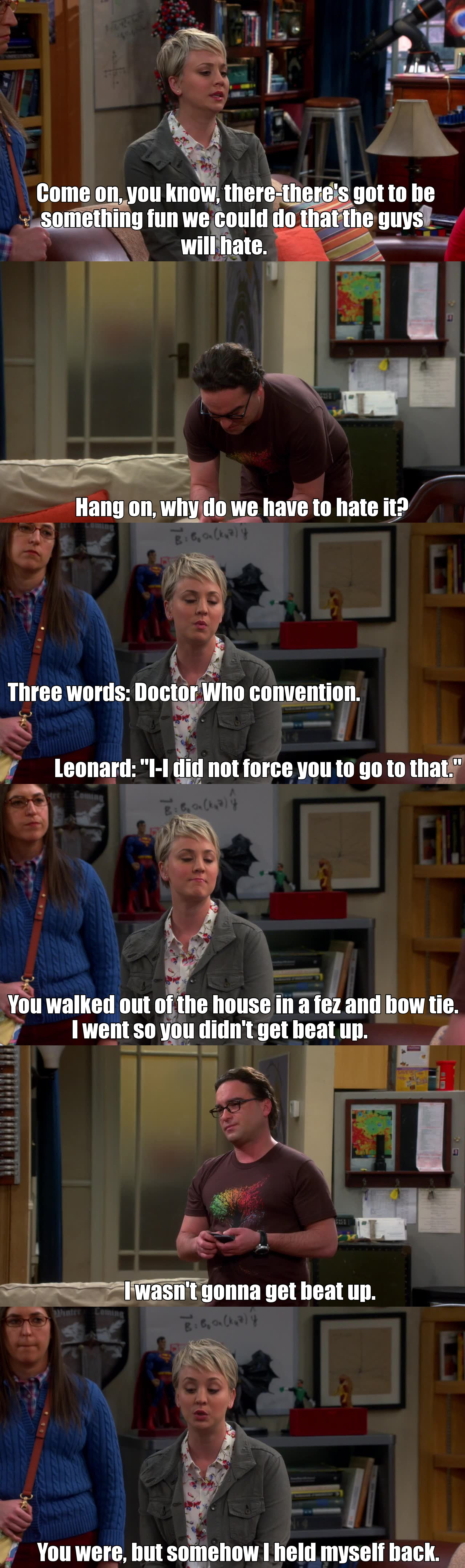 Penny is not a whovian. Bad Penny.