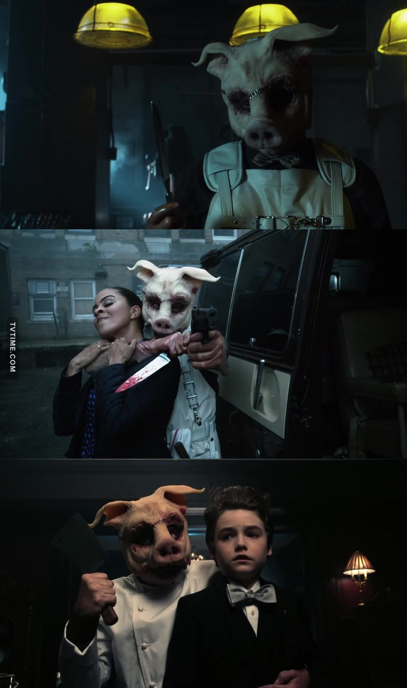 Over the years, Gotham has been many things; drama, comedy (although a very dark one), murder mystery, super hero escapism, police drama and even romance, but never has it been such a gut wrench horror story as Professor Pyg. He's a villain who needs to escape and return to wreak havoc on Gotham.