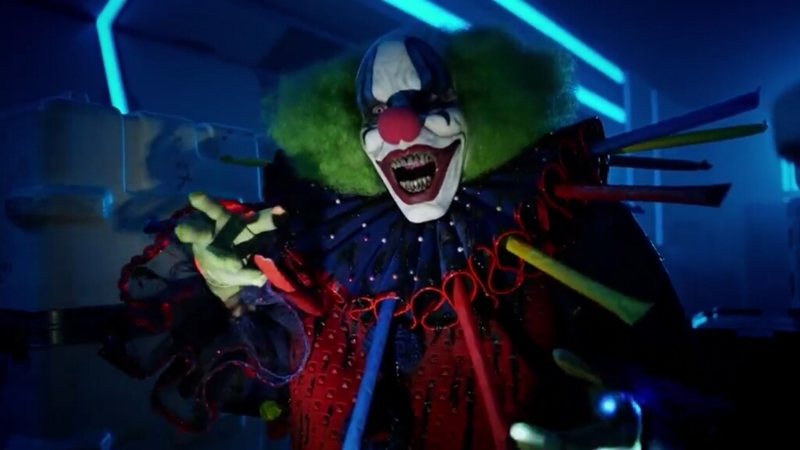 Well, if I was only mildly scared of clowns before I am now traumatized and will be terrified of them for life after this. Seriously, when those party things shot out I died screaming on the inside.