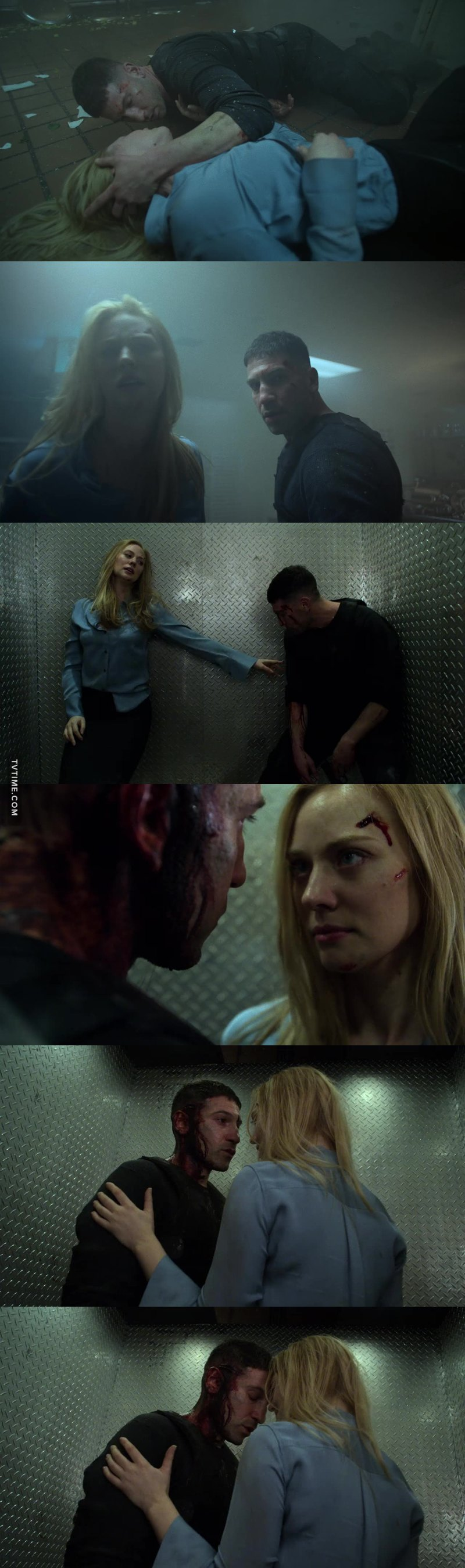 KISS!!! Honestly though who knew FRANK CASTLE & KAREN PAGE, characters who'd never met in the comics as far as I know, would end up being the most compelling Marvel Netflix pairing ❤️. The actors' chemistry is one thing (off the charts btw), but these characters in this incarnation make sense together. I love it... 😍