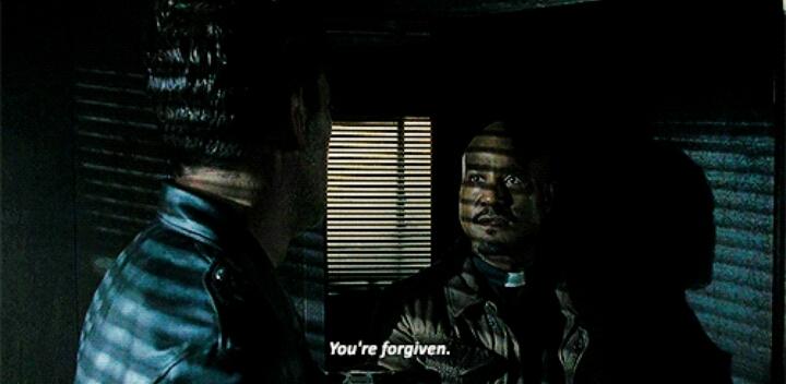 Gabriel: You are forgiven. Negan: *punches Gabriel* Thanks.