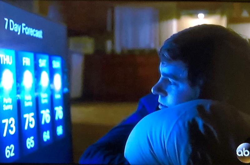 He got his tv!! 😭😭😭