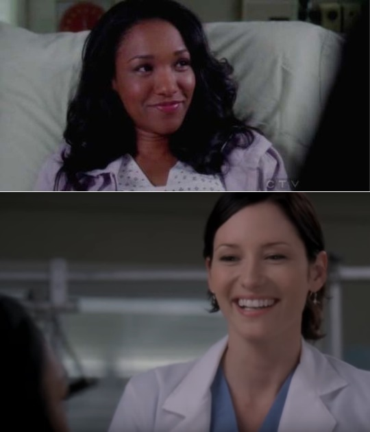 Remember that time Iris West was Alex Danver's patient on Grey's Anatomy?