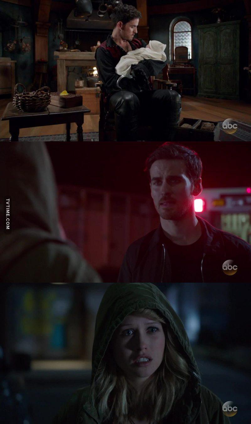 ¿Qué dije yo desde el capítulo 1? Si es que son iguales... de hecho en el capítulo 1 pensaba que era la hermana de Henry, cuando se desveló lo de Hook ya no había dudas...