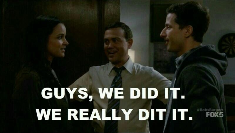 Boyle is all of us 😂😂😂 true shipper!