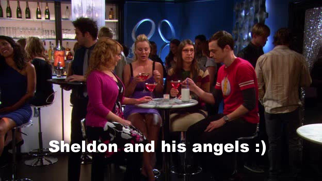 Sheldon crashing a girls night out!