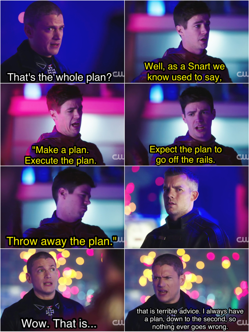 This was hilarious 🤣 Also, did anyone else think of Prison Break when he said he has a plan down to the second 😂😍