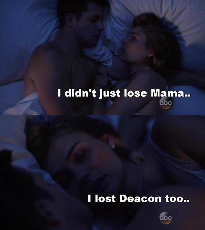 I can't take this, PLEASE let Deacon and Scarlett make up again :(