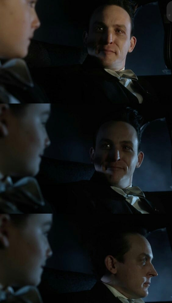 Oswald protecting Martin like his own child and taking the blame for blowing up a innocent orphan just to ensure he won't be used against him once more. Penguin is having such a great evolution. Thanks writers!