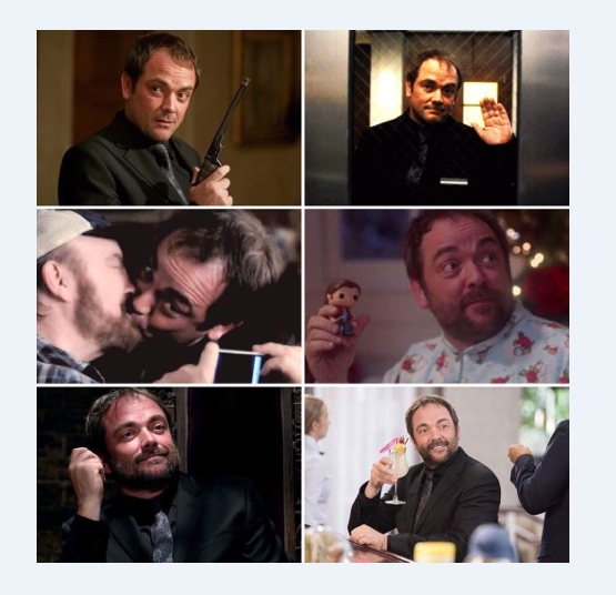 """In memory of our beloved Fergus Roderick McLeod, """"Crowley"""". Rightful King of Hell, and former King of the Crossroads. The show is not the same without you.   We miss you, and we love you.   Bye Crowley ♥ Thank you Mark ♥"""