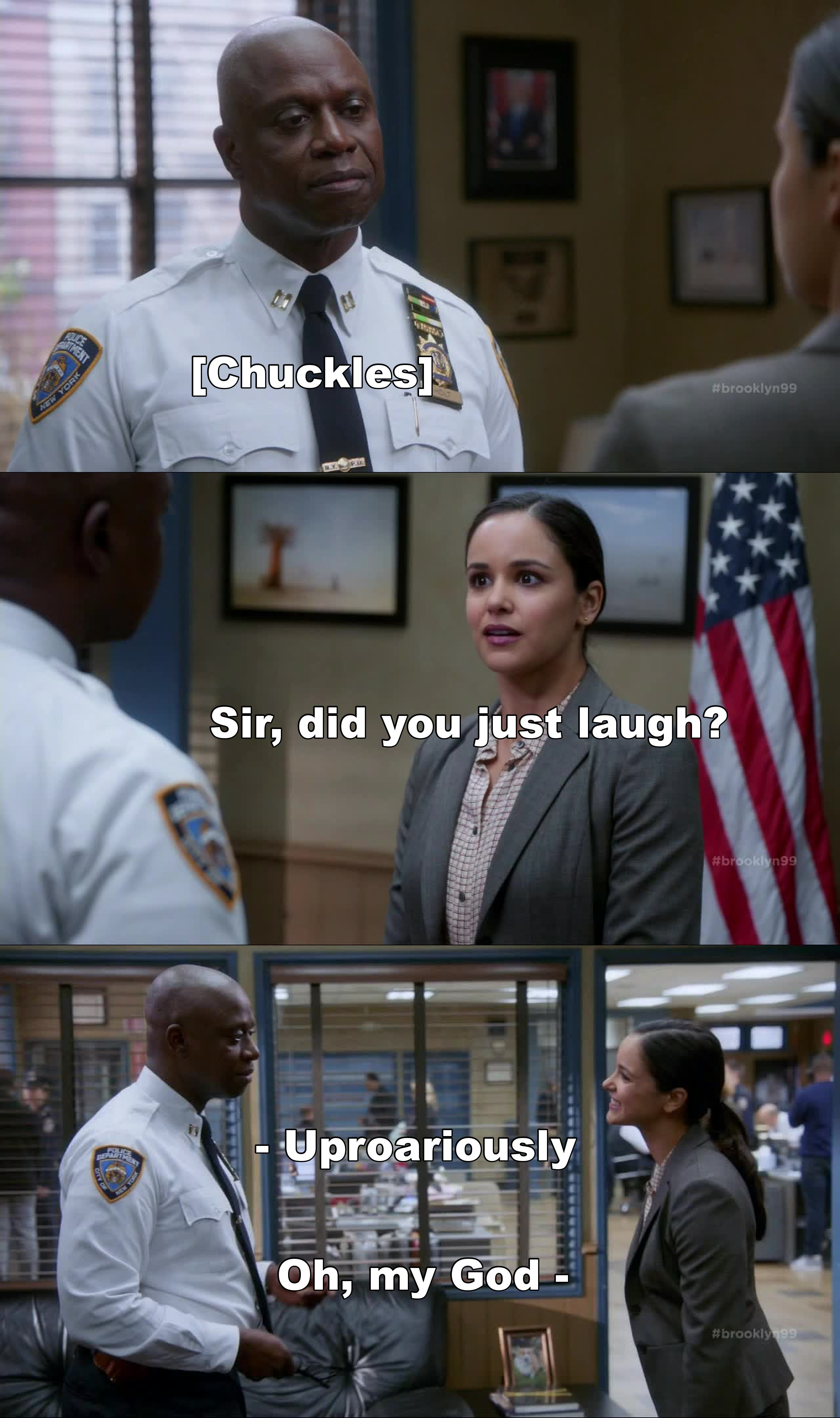Amy: So you think we can laugh about me poisoning you? Holt: Yes, I do. Someday, Perhaps over street meat.