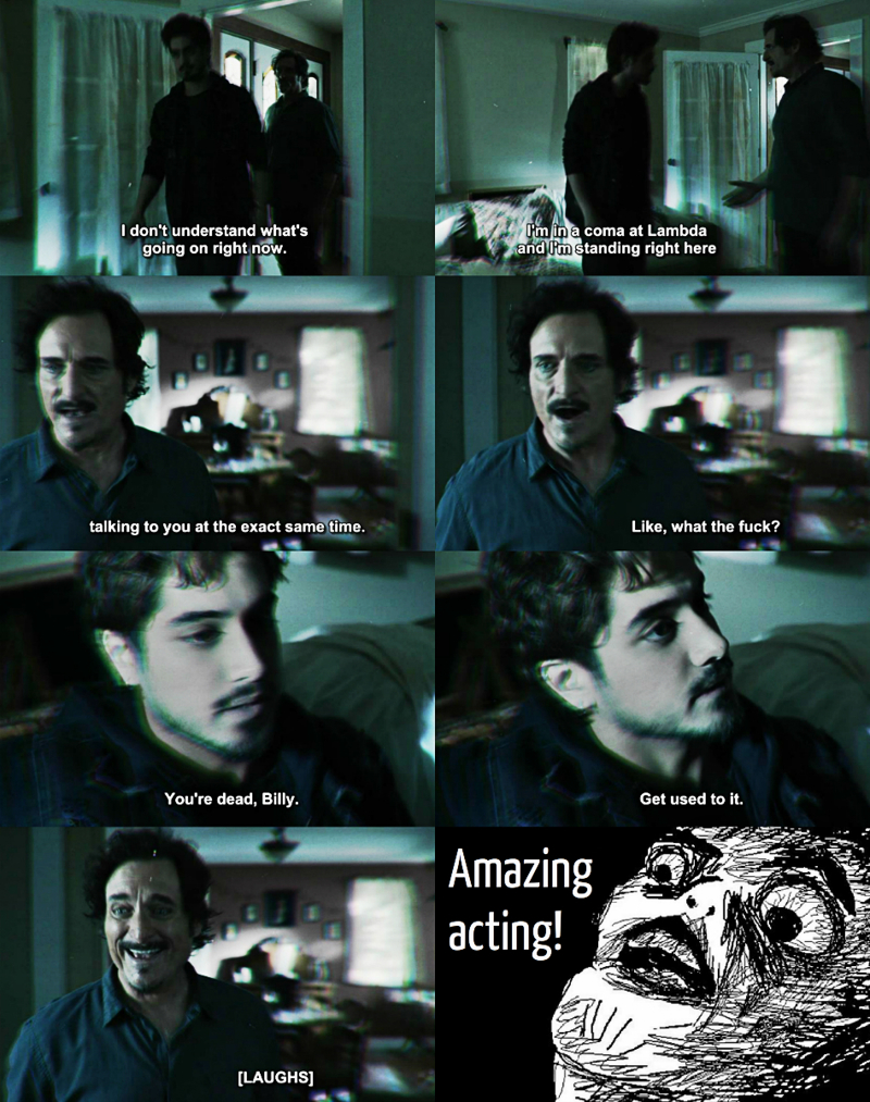 """This moment was hilarious with the sarcasm """"You're dead, Billy. Get used to it"""" 😂 but perfectly executed with the acting, really great! 👏😱 Their facial expressions were on point!"""