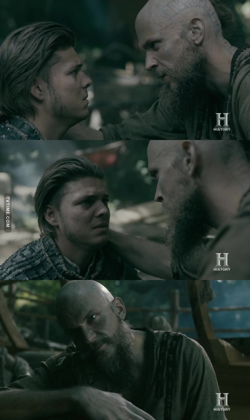 Floki as always been more of a father to Ivar than Ragnar ever was. Very touching moment.