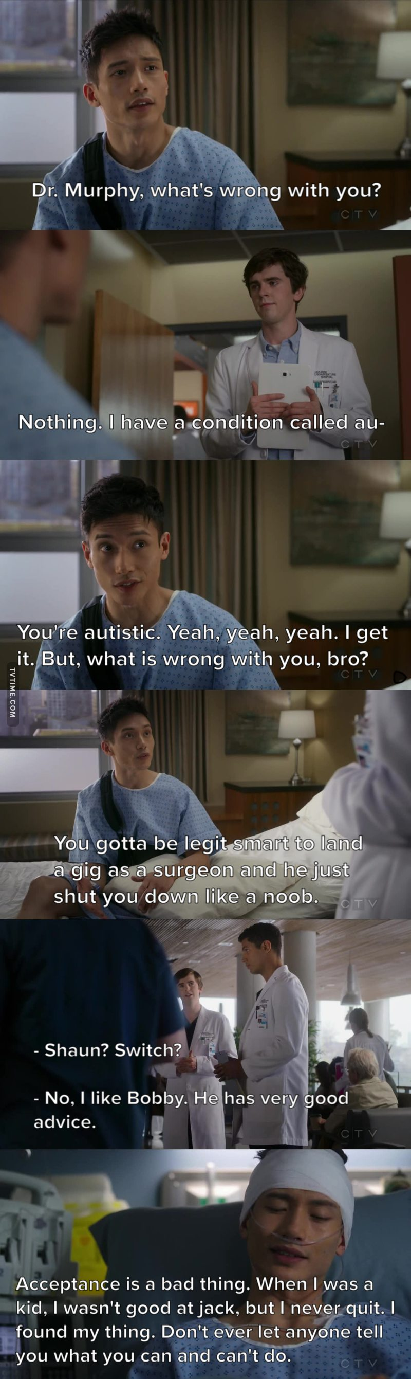 Personality of Jason, advice from Jianyu. 😄  (The Good Doctor meets The Good Place)